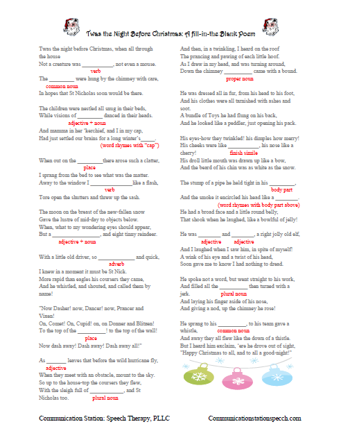 Twas The Night Before Christmas Poem Printable Freebie friday: twas ...