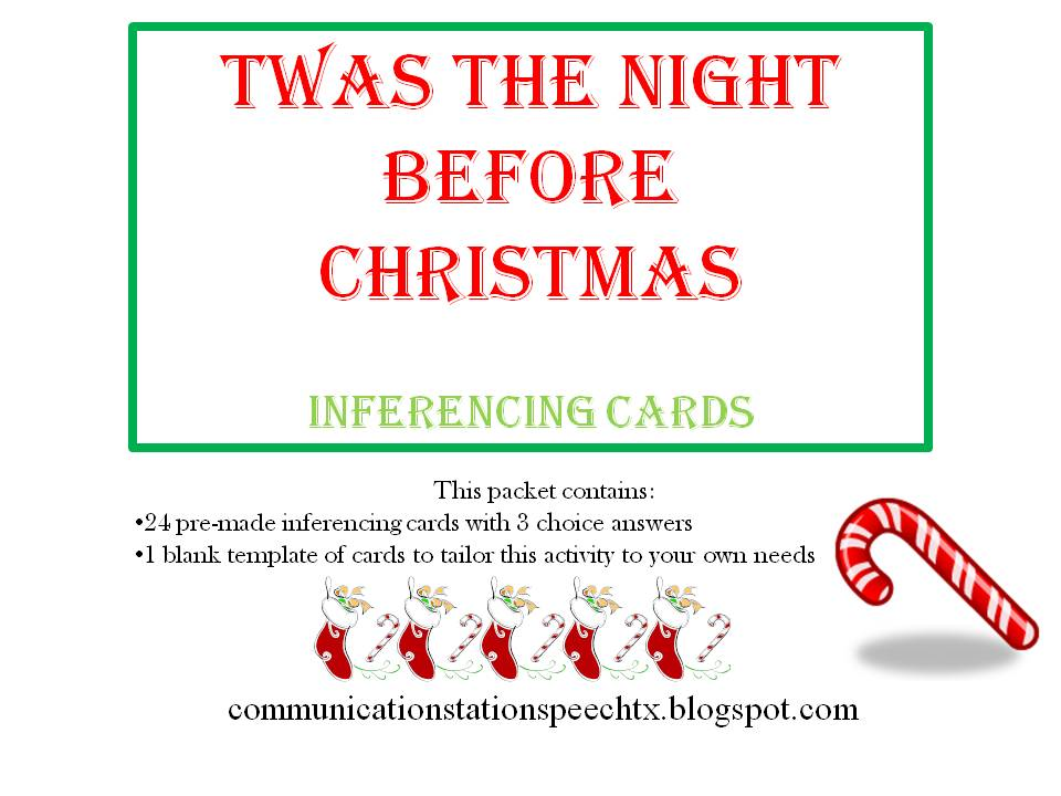 twas the night before christmas writing activities
