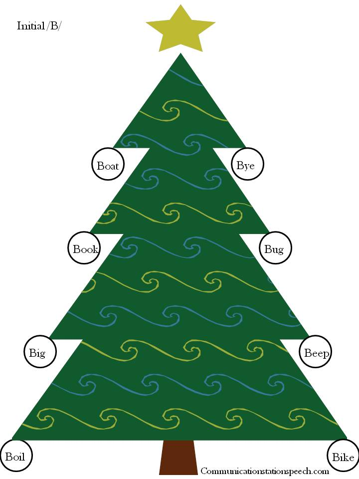 Decorate Christmas Tree Worksheet : Freebie friday christmas tree decorating articulation