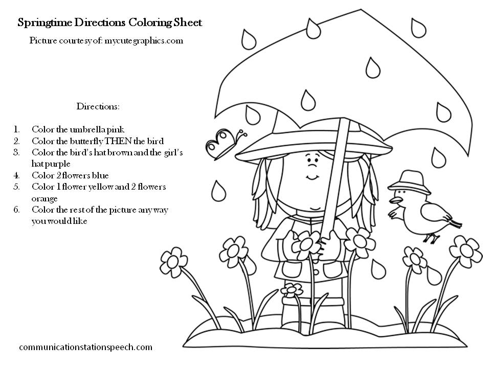 Following Directions Worksheet - Coloring | Have Fun Teaching