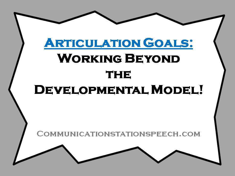 Working beyond the developmental model