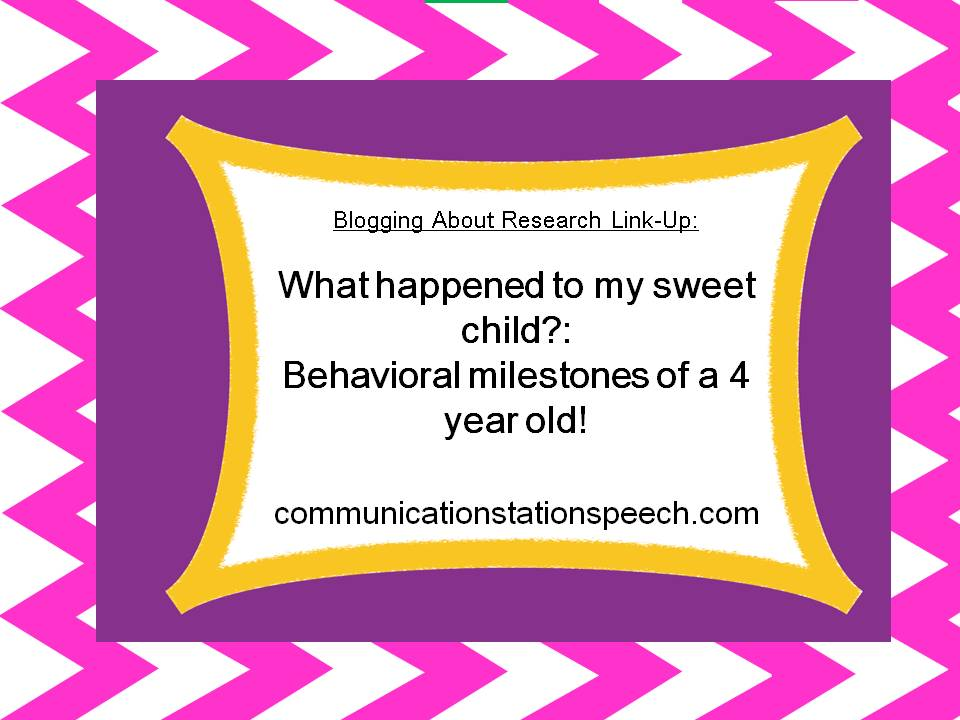 Behavioral Milestones of 4 year old