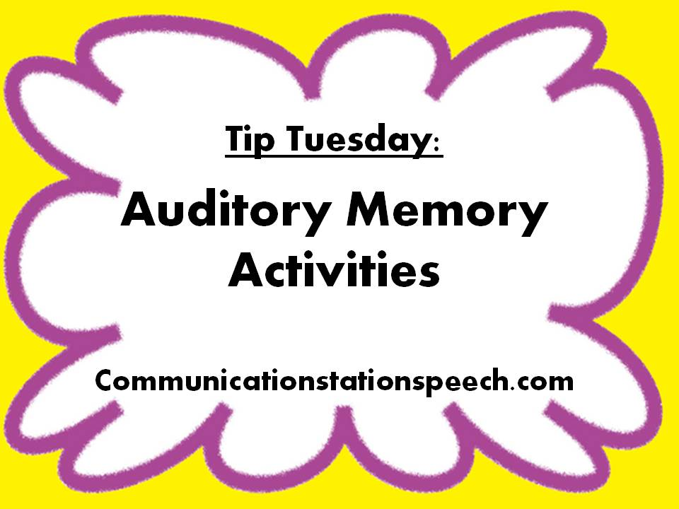 Worksheets Auditory Memory Worksheets tip tuesday auditory memory activities communication station activities